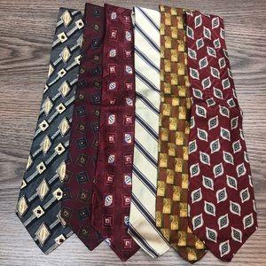 Lot of 6 Robert Talbott Silk Ties